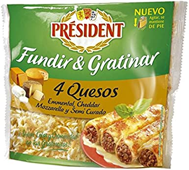Président - Queso Rallado 4 Quesos President 150 g: Amazon.es ...