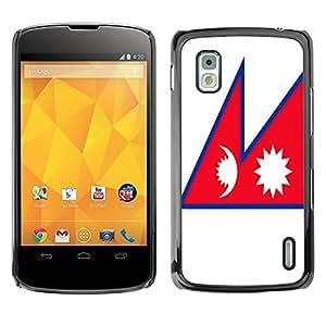 - Flag - - Monedero pared Design Premium cuero del tir¨®n magn¨¦tico delgado del caso de la cubierta pata de ca FOR LG Goole Nexus 4 E960 Funny House