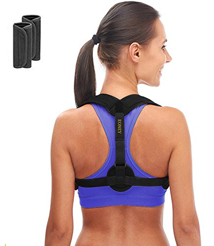 Posture Corrector Brace-Eoney Back Corrector for Man and Women-Effective and Comfortable Adjustable Back Shoulder Clavicle Support Back & Neck Pain Relief