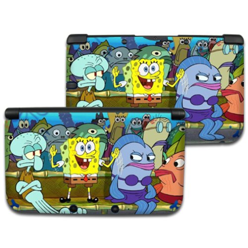 SPONGEBOB Nintendo 3DS XL Cover Skin Decal Sticker Vinyl Matte Finish (For Old Version Prior 2015) -