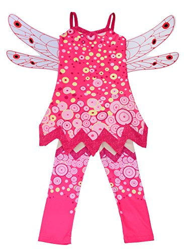 Dressy Daisy Girls Mia and Me Fairy Fancy Dress Costume Halloween Party Outfit w/Wings & Pants Size 5/6 Mia