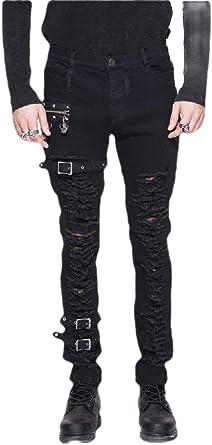 H&E - Pantalón para Hombre con Agujeros para Faldas, gótico ...
