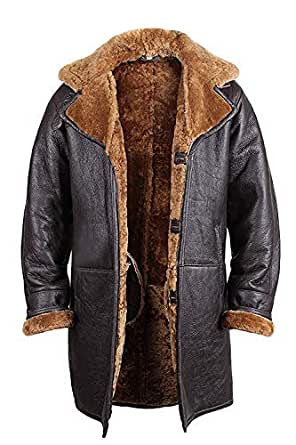 Brandslock Mens Real Shearling Sheepskin Leather Warm