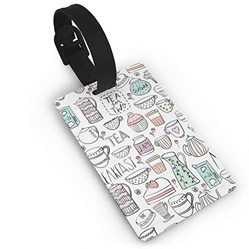 Kla Ju Luggage Tags Breakfast Time Suitcases Bags Name ID Labels Travel Accessories