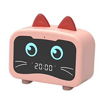 Amazon.com: Alarm Clock Radio with Bluetooth 5.0 Cat Ears ...