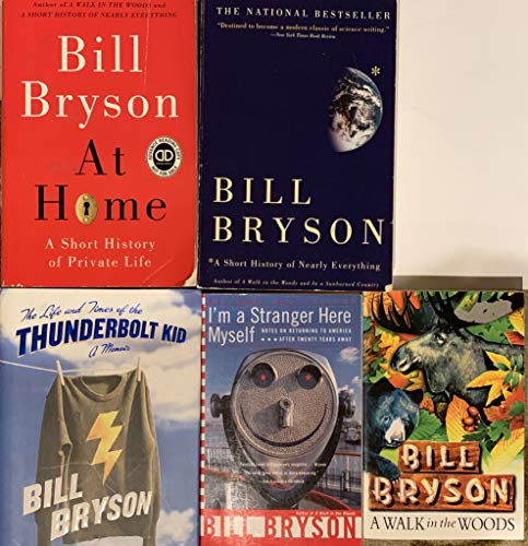 Bill Bryson Novel Collection 5 Book Set