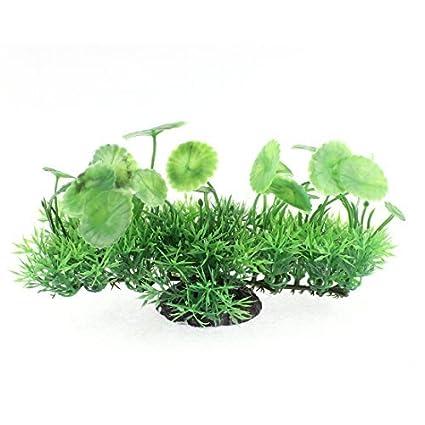 Amazon.com : eDealMax Planta acuario de plástico pecera Simulación agua de la hierba Adorno : Pet Supplies