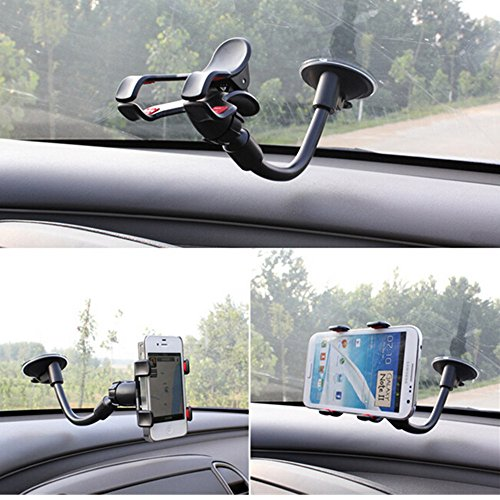 Brila Easy-to-use Car Mount Holder, Universal Windshield Phone Holder for All Smartphones and GPS Navigation
