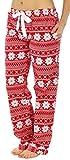 PajamaMania Women's Cotton Flannel Pajama PJ Pants