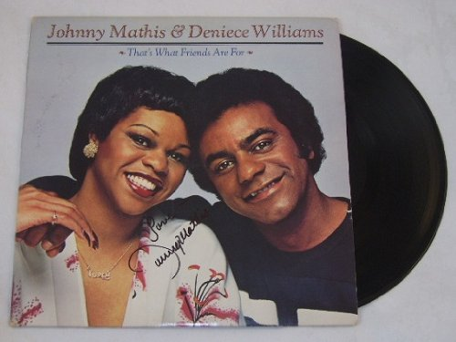 Johnny Mathis That's What Friends Are For Beautiful Signed Autographed Lp Record Album Vinyl Loa