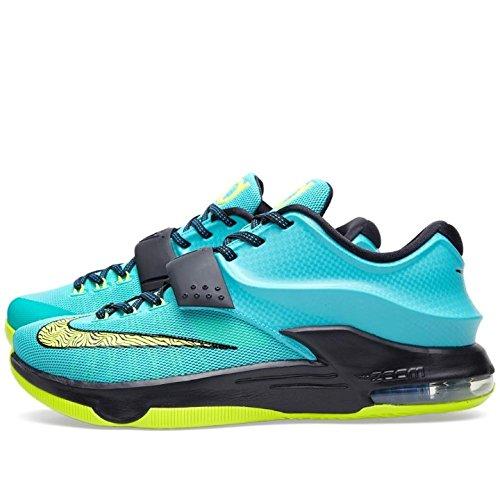 Nike Air Zoom Kevin Durant Kd Vii 7 Hall Sko Nuværende Model 2014 Lilla / Turkis / Grå / Infrarød Multi f5xSkryYm