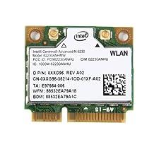 Intel Centrino Advanced-N 6230 ABGN WiFi + Bluetooth 3.0 Wireless N Combo Half Mini Pci-E Card 800.11a/b/g/n 300Mpbs