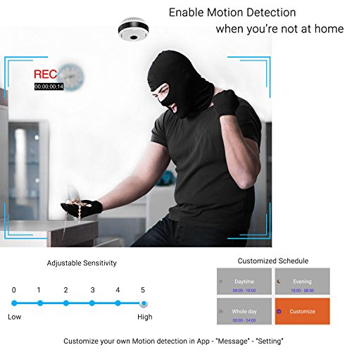 360 Degree Panoramic Camera WiFi Indoor IP Camera with Clear Night Vision 2-way Audio Motion Detection 960P Home Security Camera System for Baby Kids with iOS/Android APP for Remote Monitoring by TimeOwner (Image #4)