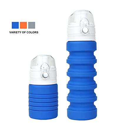 Collapsible Cup with Lid Collapsible Water Bottle, BPA Free Portable and  Reuseable, Microwave 41a68e2230