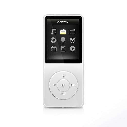 """191 opinioni per AGPTek A02 IL lettore MP3 8 GB schermo 1,8"""" con Radio e registratore, Il tempo"""