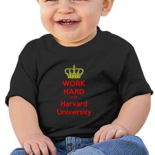 MoMo Unisex WORK HARD FOR Harvard University Toddler/Infant Tshirt Tee