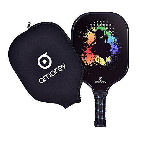 Pickleball Paddle - Graphite Pickleball Racket Honeycomb Composite Core Pickleball Paddle Set Ultra Cushion Grip Low Profile Edge Bundle Graphite Pickleball Paddles Racquet by AMAREY