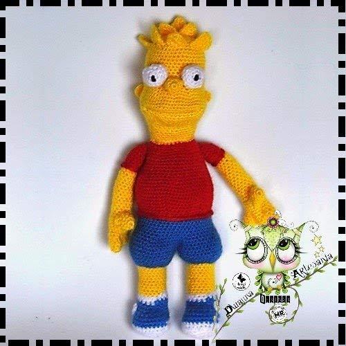 BART SIMPSON AMIGURUMI PERSONALIZABLE (Bebé, crochet, ganchillo, muñeco, peluche, niño