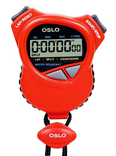 Oslo Dual Stopwatch/Countdown Timer (Red)