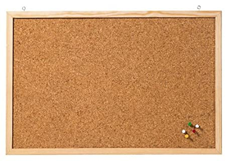 Accessories for Wall mounting: Wall mounting Frame Material: Wood Cork memo Board Frame Colour: Natural Colour: Brown Surface Texture: Cork Multipack 60 x 80 cm Brown