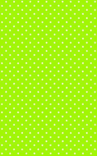 DC Fix 346-0629 Decorative Self-Adhesive Film, Polka Dot Petersen Lime Green, 17