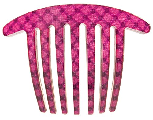 France Luxe Handmade French Twist Comb - Optic Dot Magenta