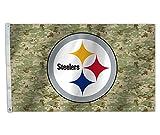 NFL Camo 3X5 Flag, Green, One Size