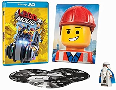 Amazon Com The Lego Movie Everything Is Awesome Edition Bluray 3d Blu Ray Dvd Vitruvius Figure 3d Emmet Photo English Spanish French Audio Subtitles Movies Tv