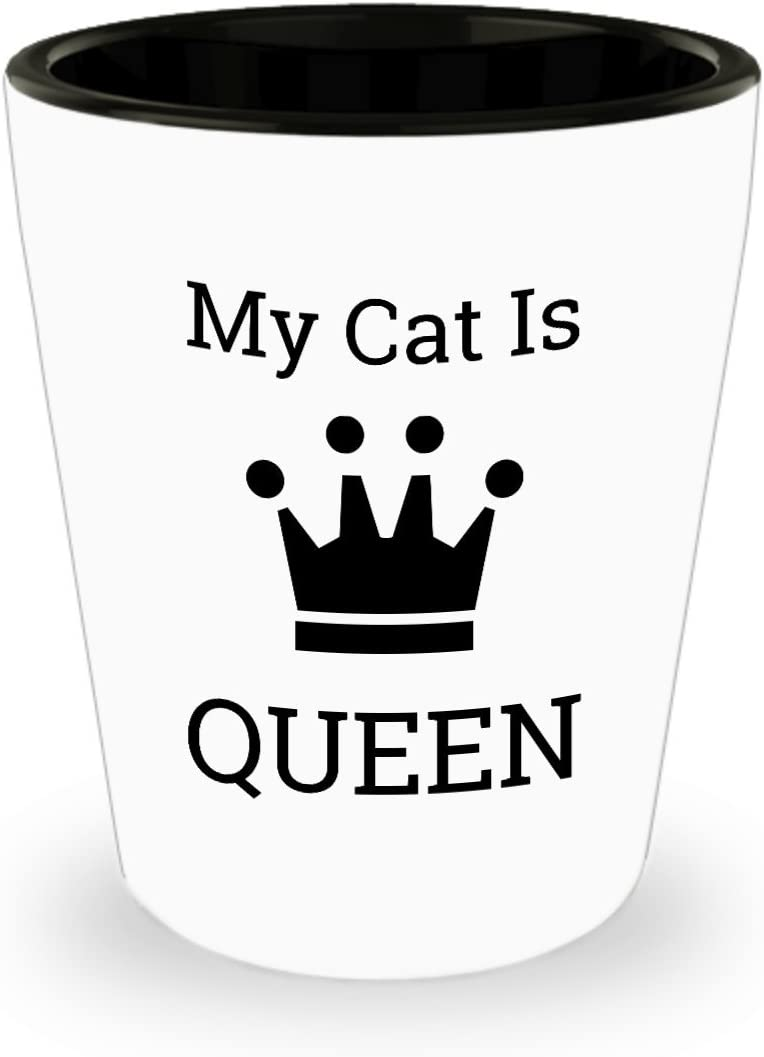 Birthday Present Ideas For Cat Fs Cat Mom 1.5 Oz Ceramic Shot Glass Shot Glasses Gift For Her Gift For Cat Loving Financial Specialists