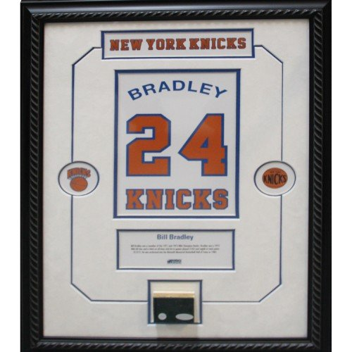 Bill Bradley Retired Number Knicks ChampCourt Piece 14x20 Framed Collage w/plate by Steiner Sports