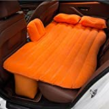Inflatable Car Air Mattress with Pump (Portable) Travel, Camping, Vacation | Rear Seat Blow-Up Sleeping Pad | Truck, SUV, Minivan | Compact Twin Size,Blue