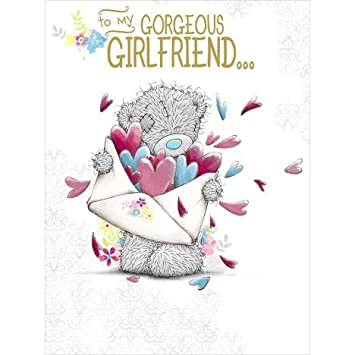 Me To You Happy Birthday Card For My Gorgeous Girlfriend Love Letter