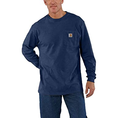 0b732e2f2a24 Carhartt Men's Workwear Jersey Pocket Long-Sleeve Shirt K126 (Regular and  Big & Tall