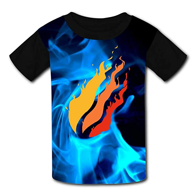 Pizza Preston Fire Nation Playz Gamer Flame 3D Print Boy Short Sleeve T-Shirt for Kids Tee Soft Cotton Shirt