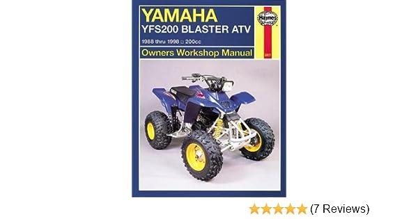 yamaha blaster atv manual owners manual book \u2022 yamaha blaster intake diagram yamaha yfs200 blaster atv 1988 thru 2006 200cc haynes owners rh amazon com yamaha blaster engine diagram yamaha blaster engine