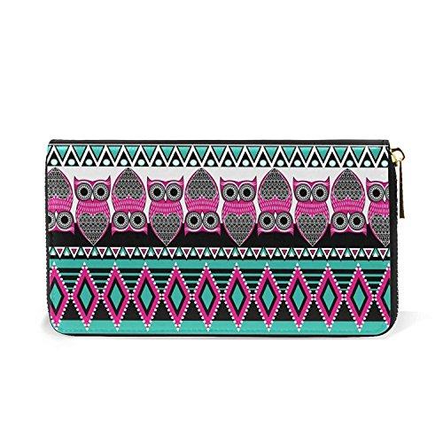 Geometric Wallets Owls Animal Card Holder Long Passport Clutch Purse Handbag by HangWang