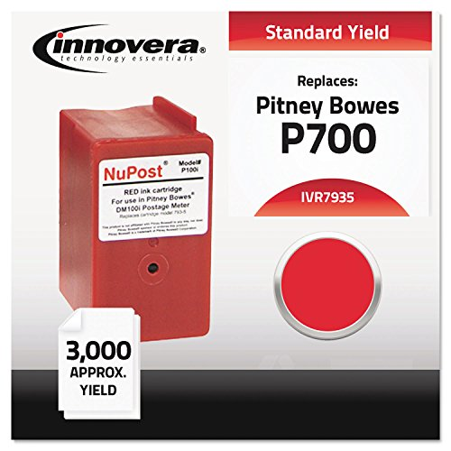 IVR7935 - Innovera 793-5 Red Ink Cartridge Compatible with Pitney Bowes DM100i, DM200L, P700  Postage Mailing Meter Machine (Pitney Bowes Pbi Ink Cartridge 793 5)