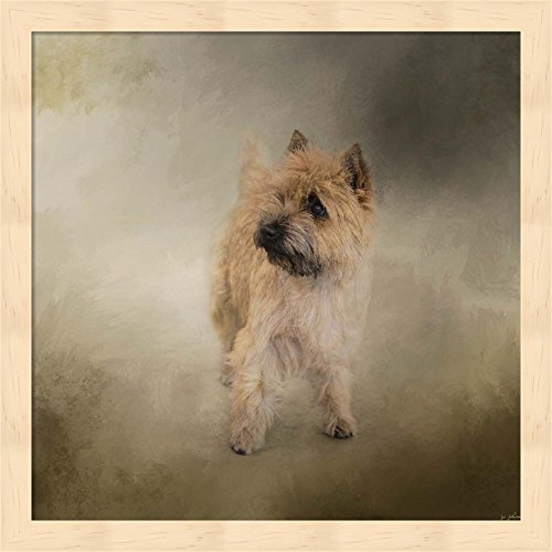 Did I Hear You Say Walk Cairn Terrier by Jai Johnson Framed Art Print Wall Picture, Deep Natural Frame, 13 x 13 inches