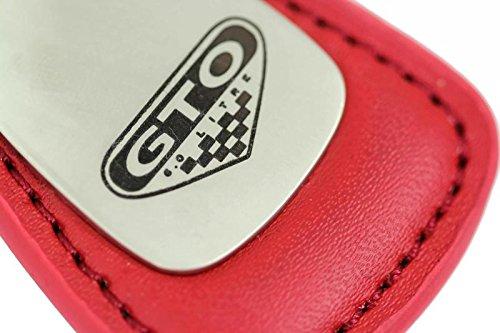 Pontiac Gto 6 0 Litre Leather Key Chain Red Tear Drop Key Ring Fob
