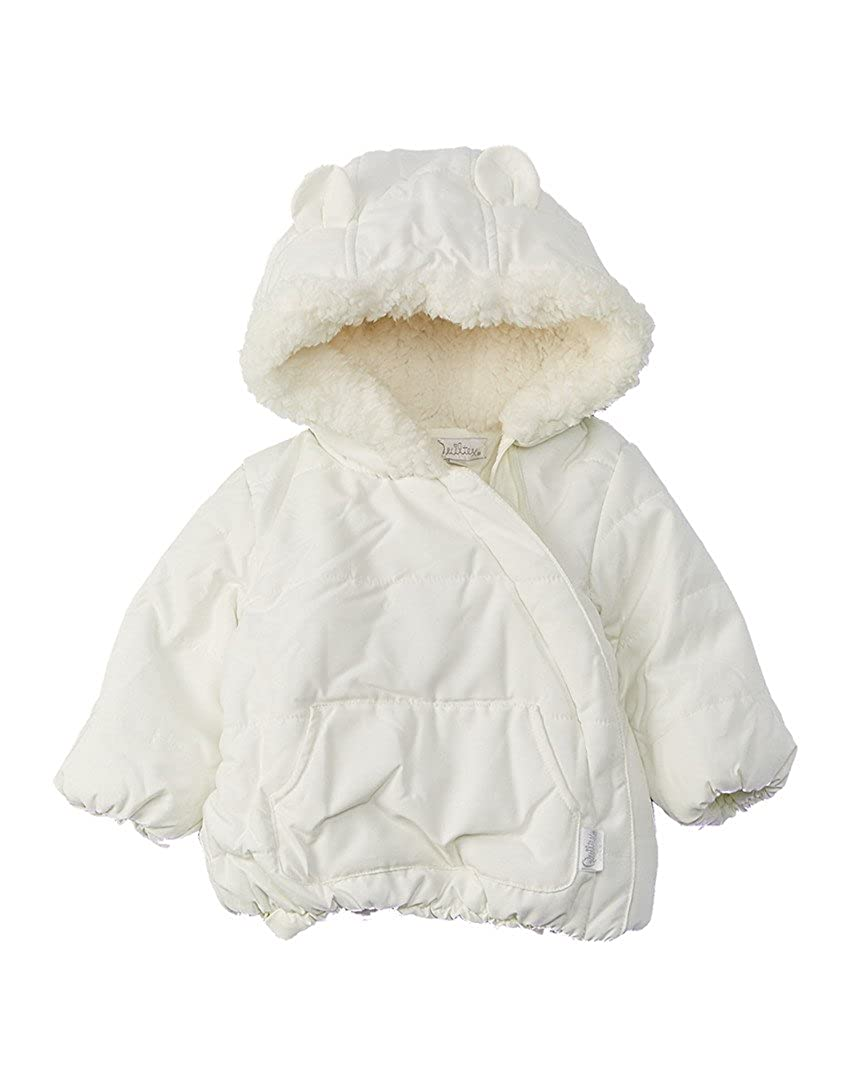 Quiltex Girls Sherpa Cute Hooded Puffy Jacket