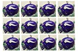 "Minnesota Vikings Set of 12 Holiday Christmas Tree Ornaments Featuring Vikings Team Ornaments Ranging from 1.5"" to 2"" Tall"