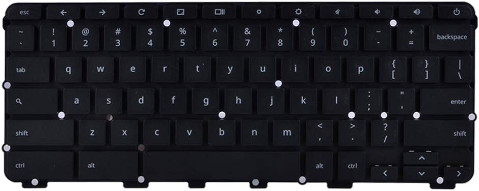 Compatible Part Number AEZRFR00110 NKI111303T 6450C9EAK201 Eathtek Replacement Keyboard Without Frame for Lenovo Chromebook N22 N22-20 Series Black US Layout