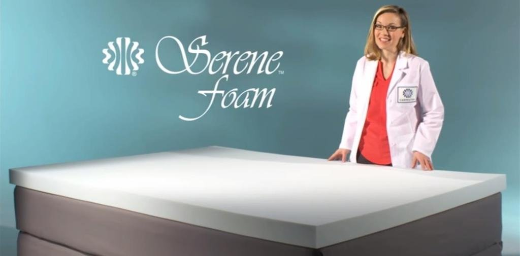 Serene Foam Full / Double Size 2 Inch Thick, Advanced Supportive Air Technology Mattress Bed Topper Made in the USA