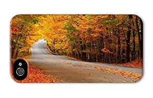 Hipster for cheap iPhone 4 cover Autumn Forest Street PC 3D for Apple iPhone 4/4S