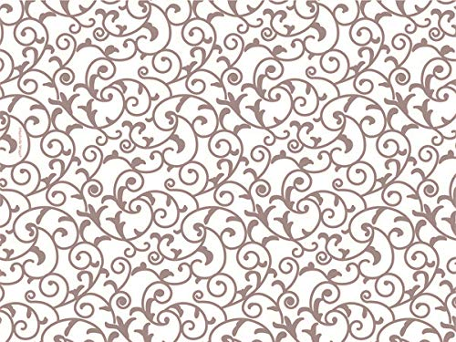 Rose Gold & Ivory White Scroll Tissue Paper 20 Inch X 30 Inch - 24 Sheets ()