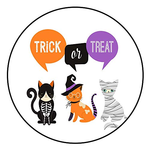 (Hua Wu Chou Round Splat matfire Pit mat Round D4'2/1.3m Happy Halloween Cats in Monsters Costumes Halloween Party Vector Illustration Banner Elements)