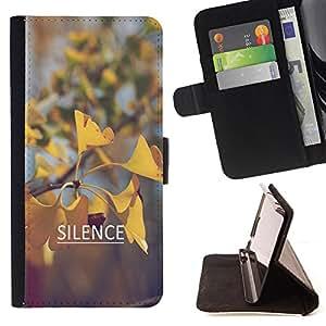 King Case - FOR Sony Xperia Z1 L39 - fall in love with them - Prima caja de la PU billetera de cuero con ranuras para tarjetas, efectivo Compartimiento desmontable y correa para la mu?eca