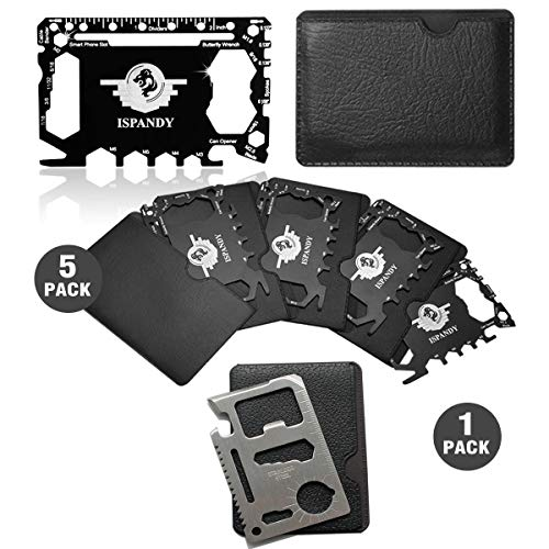 Pocket Tool Credit Card Tool Gift Set with 46 in 1 Multi Wallet Tool Card,11 in 1 Credit Card Size Tool,Stocking Stuffers Gift & Gadgets for Men,Dad,Husband,Brother-Father's Day Gift,Birthday Gift