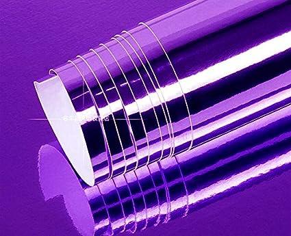 Amazon com: DIYAH High Gloss Purple Chrome Mirror Vinyl Car Wrap