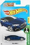 2016 Hot Wheels Hw Green Speed - Tesla Model S (Dark Blue)